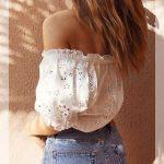 omuz dekolteli yazlık bluz