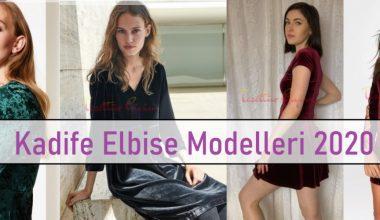 Kadife Elbise Modelleri 2020