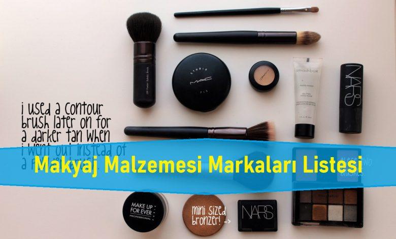 Makyaj Malzemesi Markaları Listesi