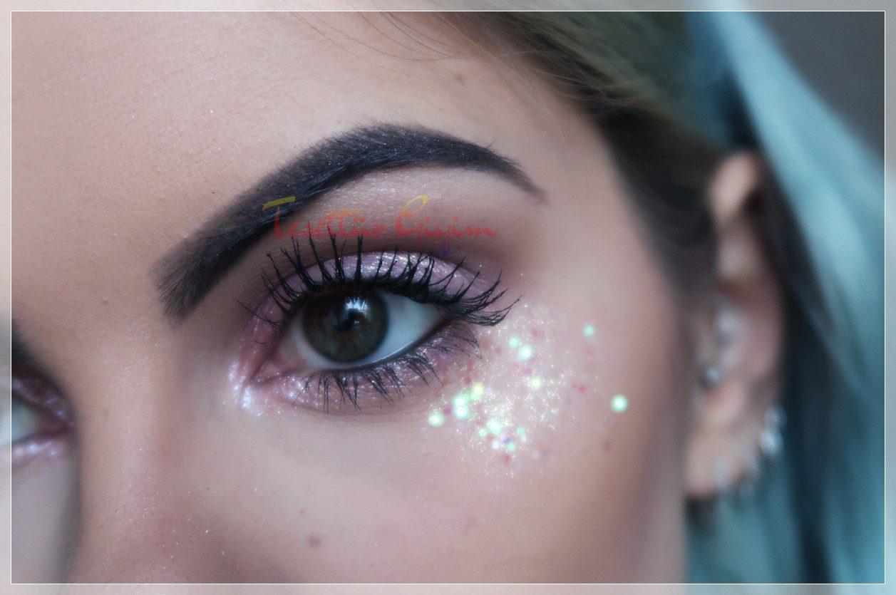 Pembe Glitter makyaj