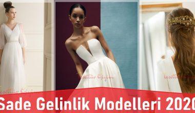 Sade Gelinlik Modelleri