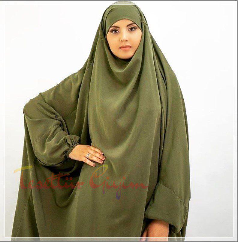 haki yeşil cilbab
