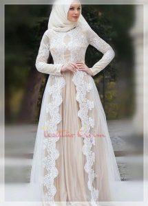 hijab princess wedding dress
