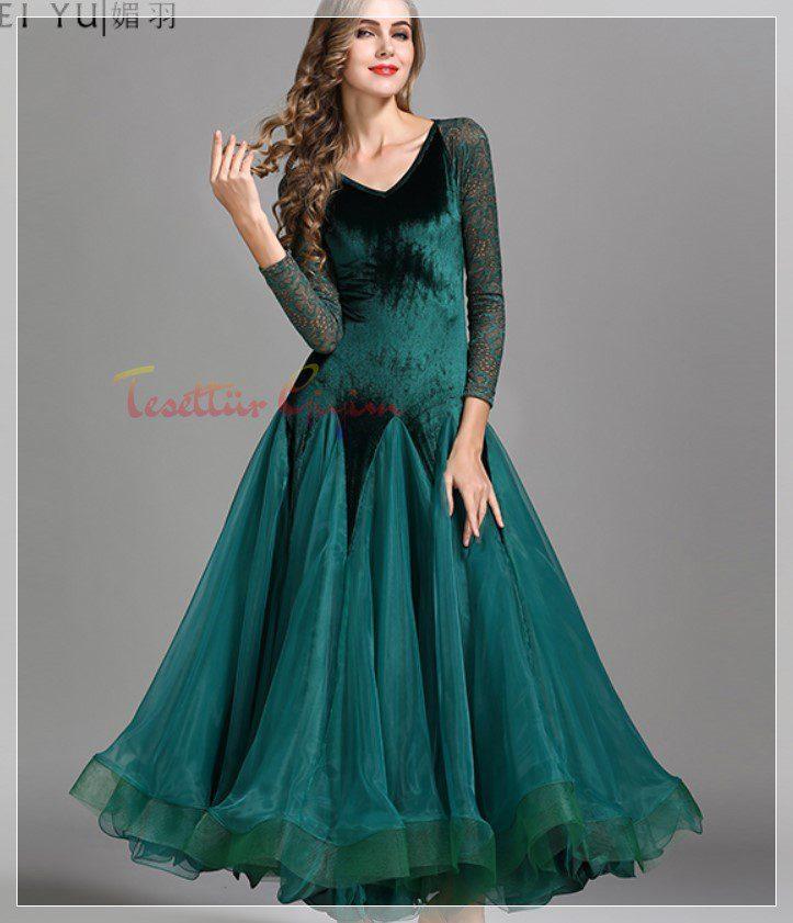 kadife gece elbise modeli