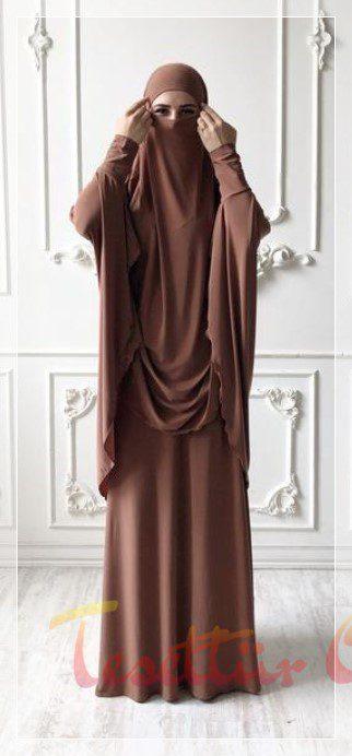 kahverengi cilbab modeli