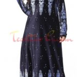 maxi boy velvet hijab dress