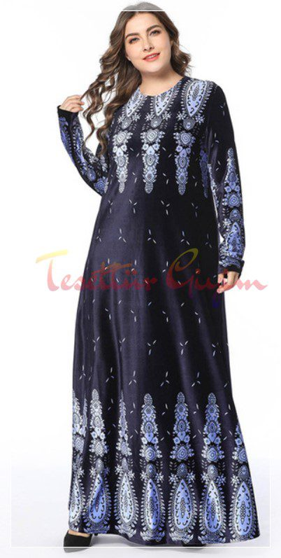 maxi boy velvet hijab dress