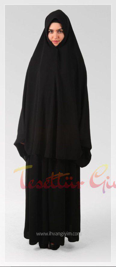 salaş siyah cilbab