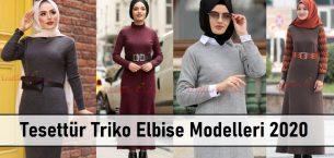 Tesettür Triko Elbise Modelleri 2020