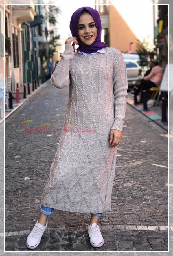 hijab knitwear dress