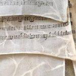 nota defterli kumaş tasarımı