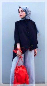 Merve Hifa Kırmızı çanta kombin