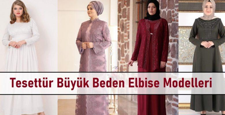 Tesettür Büyük Beden Elbise Modelleri