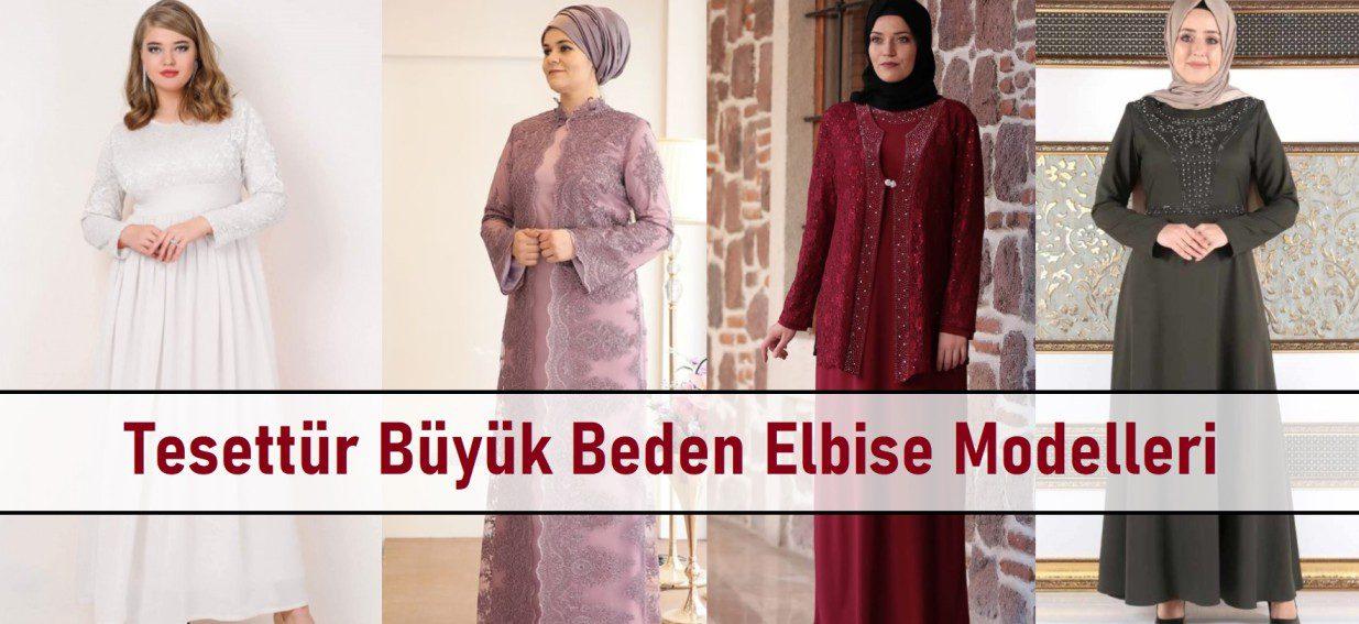 Tesettür Büyük Beden Elbise Model
