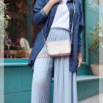Tesettür Genç Pileli Pantolon Modeli