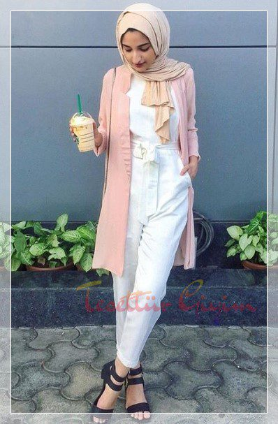 Young Hijab winter Combination