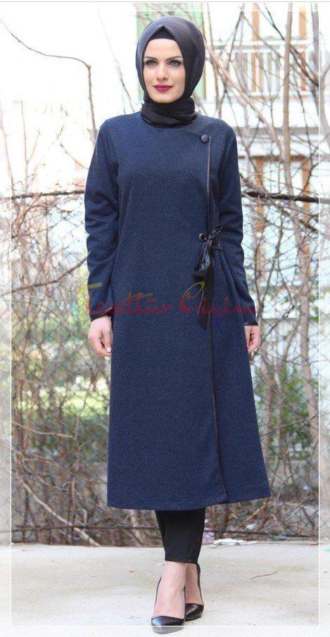 kışlık elegant tesettür elbise