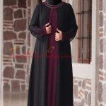 siyah lacivert Tesettür Büyük Beden Elbise
