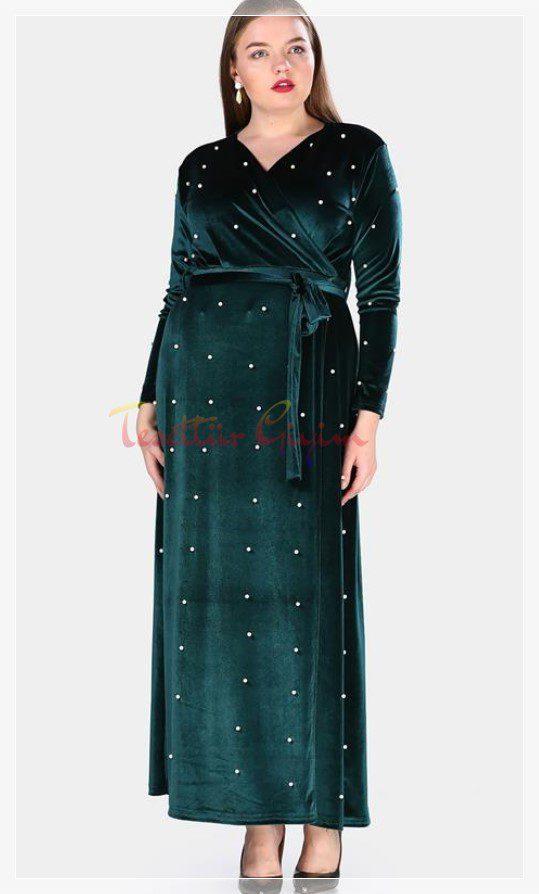 xxl Green Velvet Dress