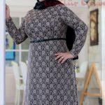 Büyük Beden Tesettür Elbise Modelleri