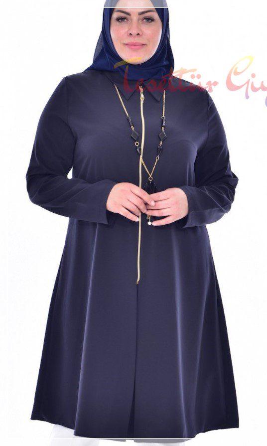 Büyük Beden Tesettür Tunik Modeli