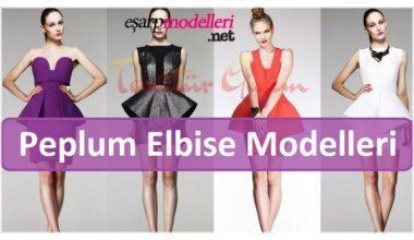 Peplum Elbise Modelleri
