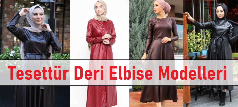 Tesettür Deri Elbise Modelleri ana görsel
