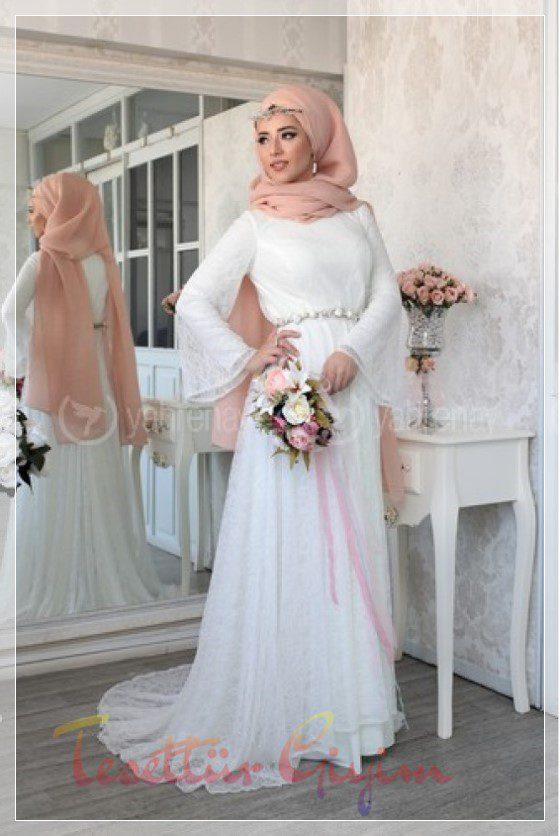 Tesettür Nikah Elbise Modelleri