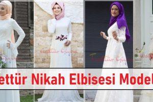 Tesettür Nikah Elbisesi Modelleri