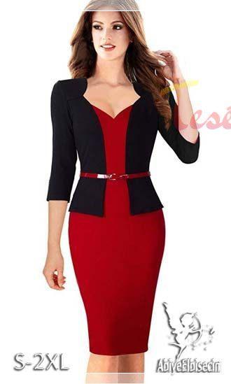 siyah ceketli Peplum Elbise Modeli