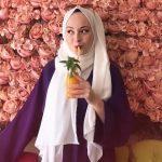 Ebrar Eslem Ercan beyaz uzun şallı kombin