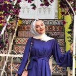 Mavi Baharlık Tesettür Elbise