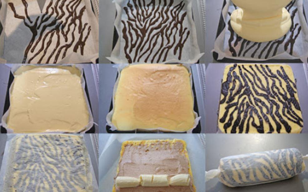 Zebralı Rula Pasta Yapım Aşamaları