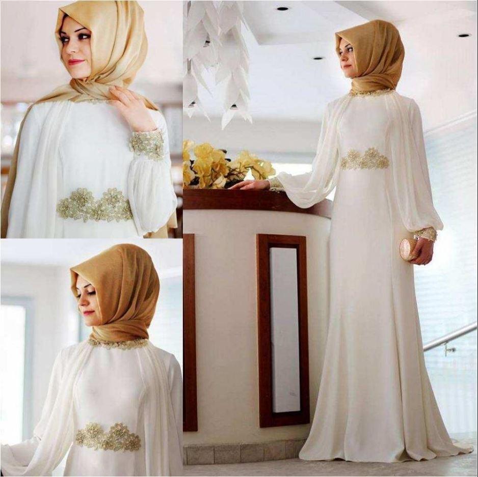 Altın sarısı şal beyaz elbise