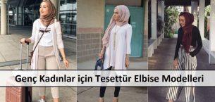 Genç Kadınlar için Tesettür Elbise Modelleri