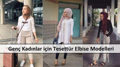 Genç Kadınlar için Tesettür Elbise Modelleri a