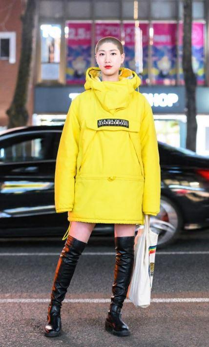 Harajuku sarı sweatshirt uzun