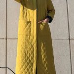 Kuaybe Gider Sarı Palto Kombini
