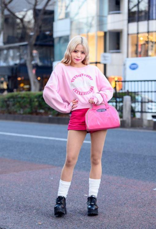 Pembe Kawai Harajuku moda