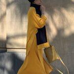 Tesettür Sarı Elbise Converse Kombin