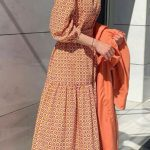 Tesettür Vintage Motifli Elbise