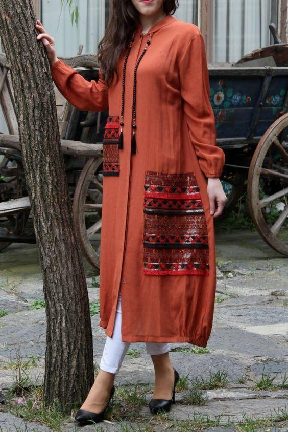 Uzun Tesettür Tunik Modelleri 2019