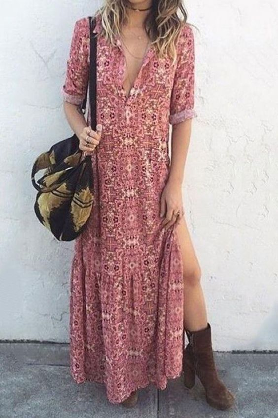 baharlık günlük elbise modeli