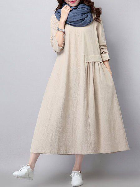 beyaz salaş günlük elbise modeli