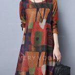 etnik tarz günlük elbise modeli