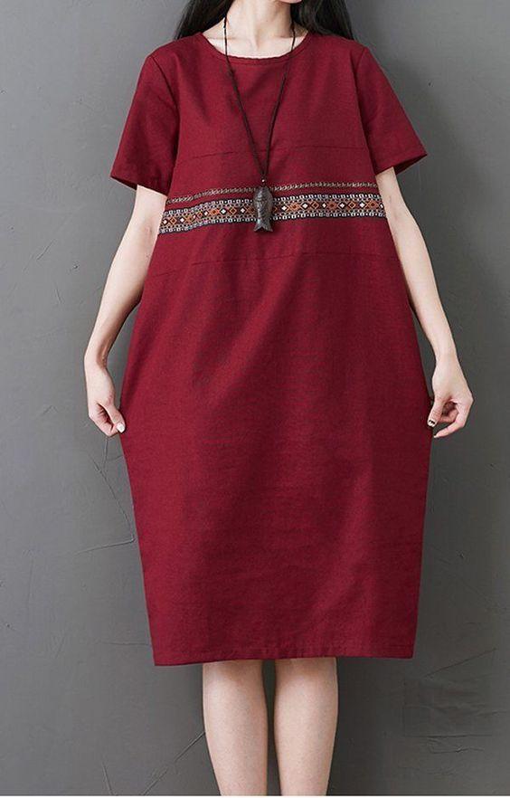 ince şerit günlük elbise modeli