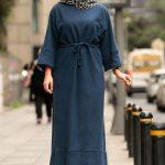 lacivert günlük elbise modeli