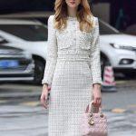 uzun kışlık günlük elbise modeli
