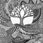 zentangle ağaç