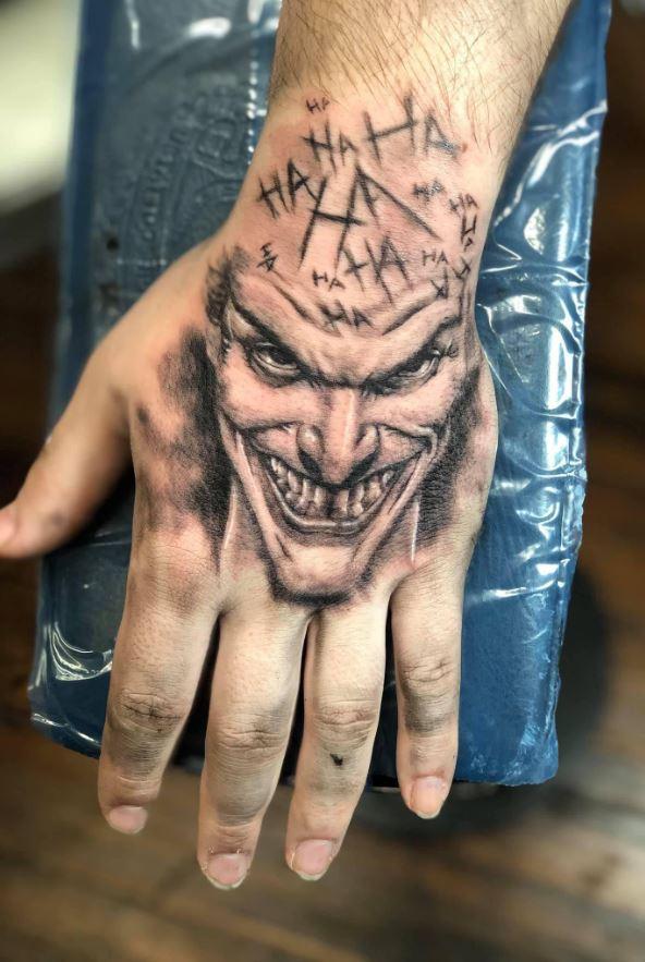 Joker El Üstü Dövme Modeli